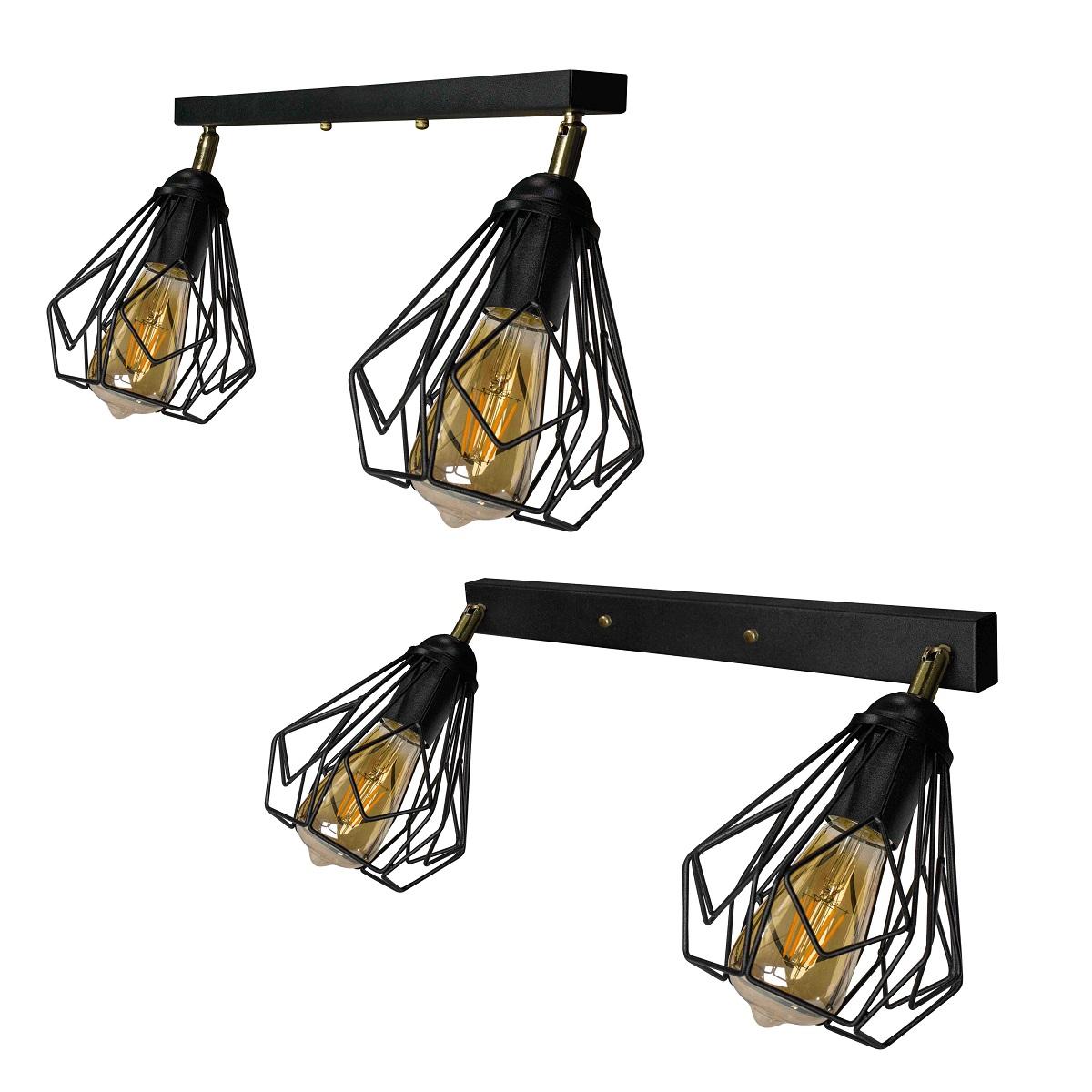 Светильники ЛОФТ - Люстра лофт потолочная с поворотным плафоном 000002782 - Фото 2